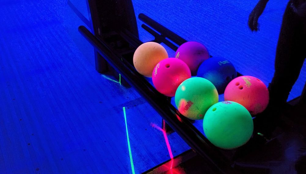 Bowling Colors Ball South Korea Colorful All The Neon Lights