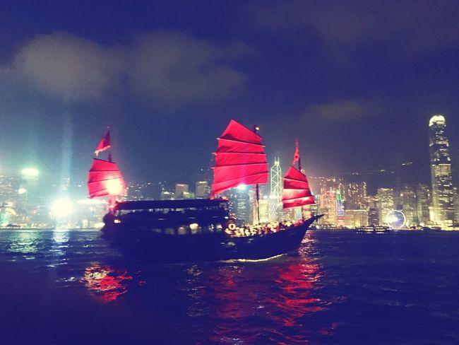 Boat Travel Travel Destinations Travelphotography Boat Water Nightphotography HongKong Wonderlust