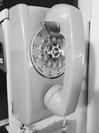 Old Technology Old Telephone Taking Photos Black & White