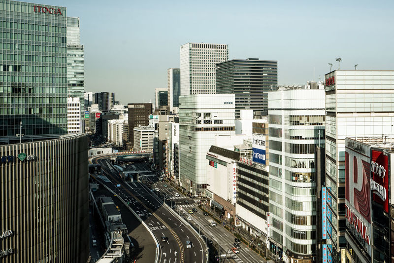 Cityscape Ginza Tokyo Japan Outdoors Building Building Exterior Built Structure