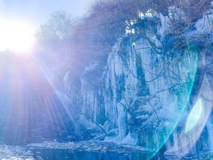 Ice blocs in