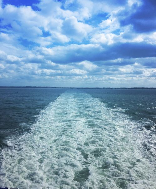 Sea Crossing Outdoors Water Outdoor Photography Ferry Sea Sea And Sky Seascape Horizon Over Water Horizon Ferry Crossing Wash capturing motion Long Goodbye