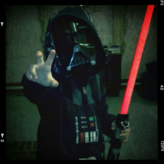 It's Vader time!! #iamyourfather #theforceisstrongwithyou #darthvader #lightsaber #starwars