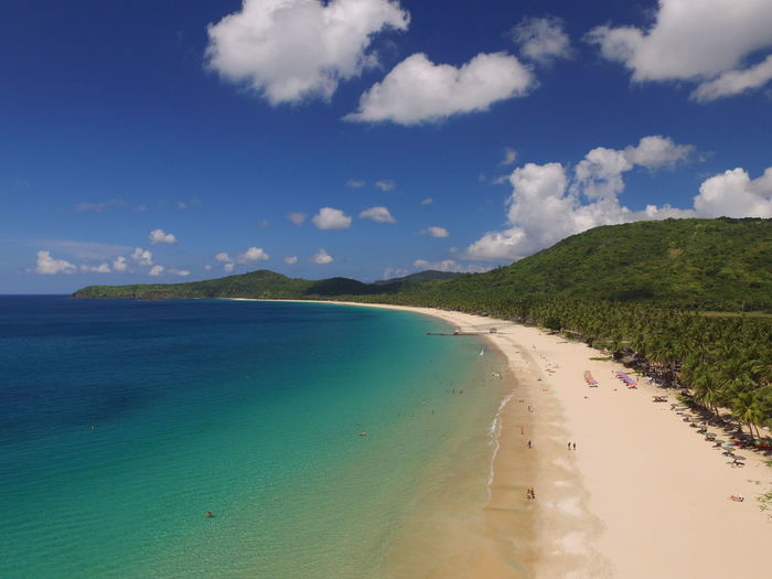 Philippines Aerial View Beach Beauty In Nature Blue Dji Landscape Sand Scenics Sea Tranquil Scene Tranquility