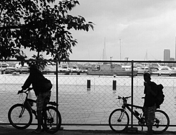 Bikers in standby Share Your Adventure Check This Out That's Me The Moment - 2015 EyeEm Awards Blackandwhite Photography On Your Bike The Traveler - 2015 EyeEm Awards