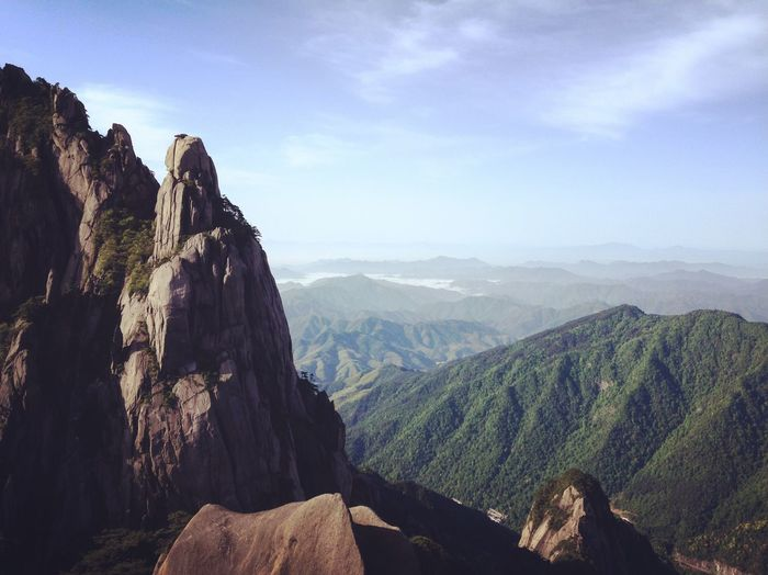 China Nature Mountain Beauty In Nature Sky Landscape Scenics Huangshan Meditation