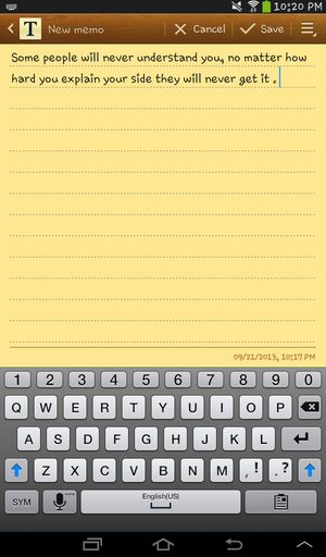 Notes Feelings Random Thoughts
