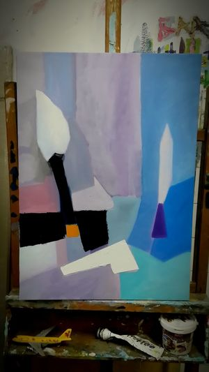 "My ""latest"" work inspired by Nicolas de Stael Geometric Abstraction Abstractions In Colors Associative Painting Art Art, Drawing, Creativity ArtWork Fineart Learning Abstract"