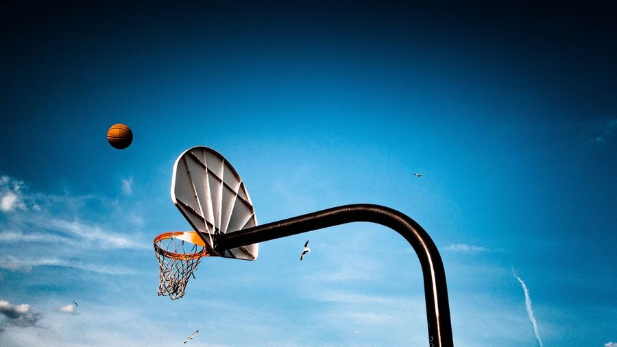 Sky Blue Outdoors Sport Basketball Hoop Basketball - Sport