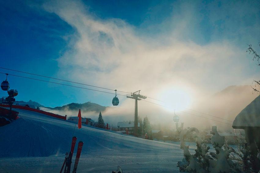 Italian Dolomites in Winter , Alta Badia, Colfosco Alta Badia Blue Sky Cold Colfosco Day Eaurope Freezing Italy Leisure Mountain Mountains Nature No People Outdoors Powder Ski Lift Ski Lift Skiing Snow Snowboarding Sunbeam Tranquility Travel Winter Winter
