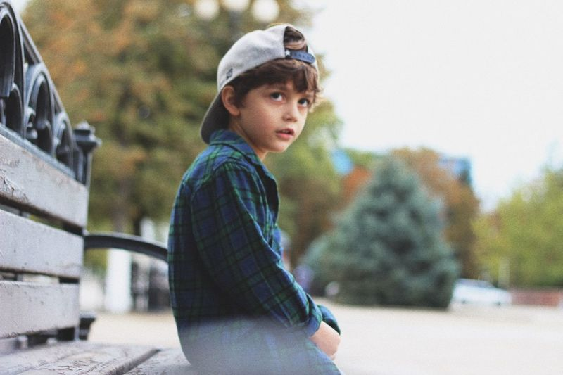 EyeEm Selects Real People One Person Child Childhood Nature Lifestyles Looking Winter Day Leisure Activity Warm Clothing Casual Clothing Females Clothing Side View Outdoors Innocence Standing Looking Away Autumn Mood