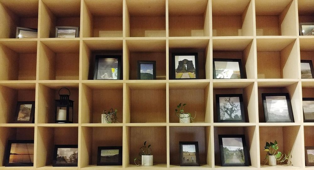 No People Architecture Indoors  Day Shelf Wooden Wood Frame Frames Photo Frames