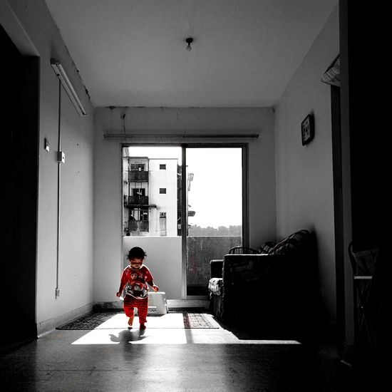 All of us are products of our childhood ~ MJ Childhood Child Real People Standing EyeEm Selects Indoors  Full Length One Person People Children Only Boys Adult One Boy Only Day Portrait Architecture
