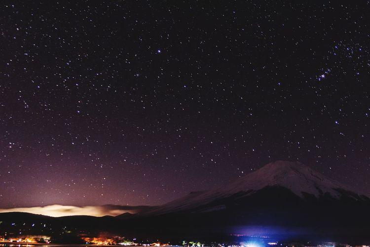 Fujimountain Astronomy Galaxy Milky Way Space Star - Space Constellation Star Field Mountain Sky Landscape