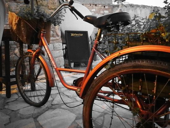 old bike ancient village City Bicycle Land Vehicle Text Stationary