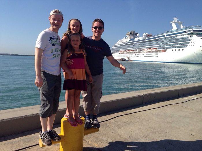 Happy Explorers Cruising Traveling Portrait Family In high temperatures we set off to explore Cartagena.