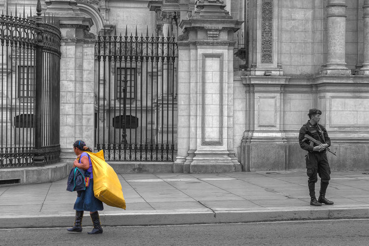 Plaza de Armas EyeEmNewHere #Lima Politics And Government City Full Length Men Politics Period Costume Military Uniform Uniform Walking Traditional Clothing