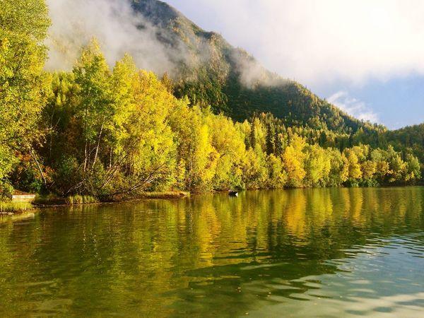 Alaska] ska AFS Traveling View Lake Amazing Cloudy Landscape Nature
