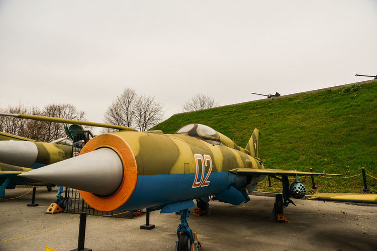 2ww Aircraft Industry Mig-15 No People Outdoors Russian Warplane