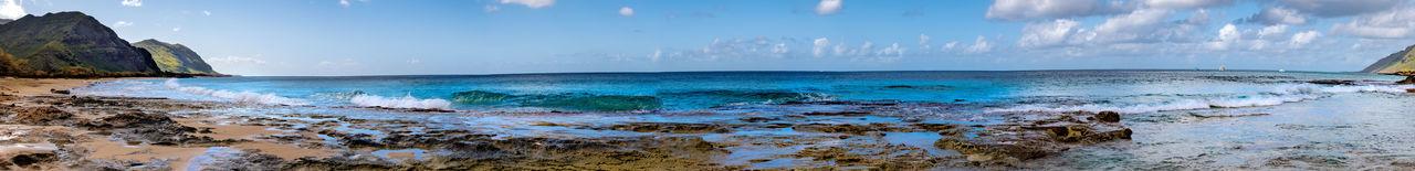 Panoramic shot of sea waves