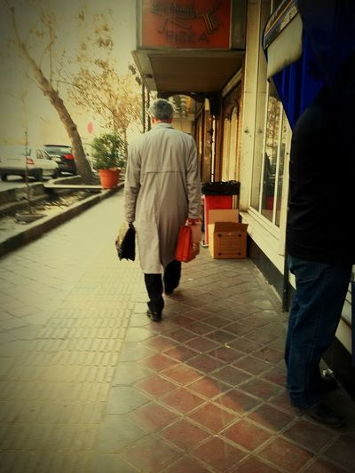 A Man in the street,,One Person One Man Only People Outdoors A Man With Two Bags Mans World Man Man In The Street Inspired