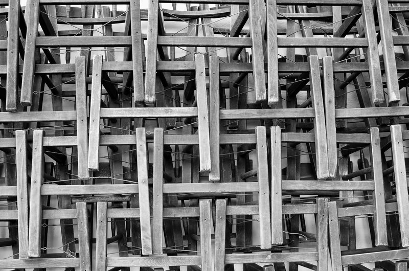 Pattern, Texture, Shape And Form Architecture Backgrounds Built Structure Construction Frame Construction Site Day Indoors  No People Paterns Pattern Roof Beam Wood - Material