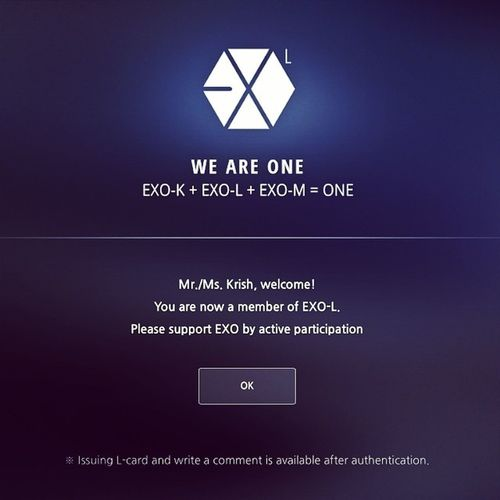 Finally! Certified Member of Exo-L :) We Are One! Exo is ❤️️? @luexolu @xiurista90 @oohsehun @baekhyunee_exo @hztttao @real__pcy EXO WeAreOne Kworld Kpop