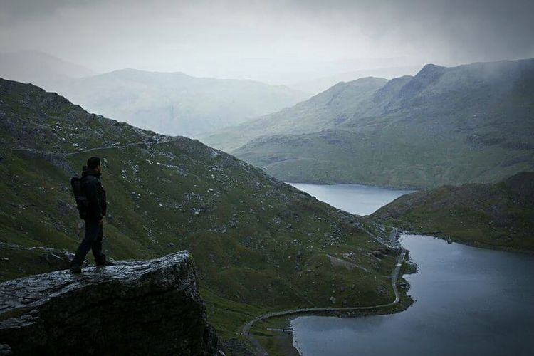 The Traveler - 2015 EyeEm Awards Snowdonia CliffEdge Hello World Check This Out Hanging Out Taking Photos Climbing A Mountain Landscapes With WhiteWall