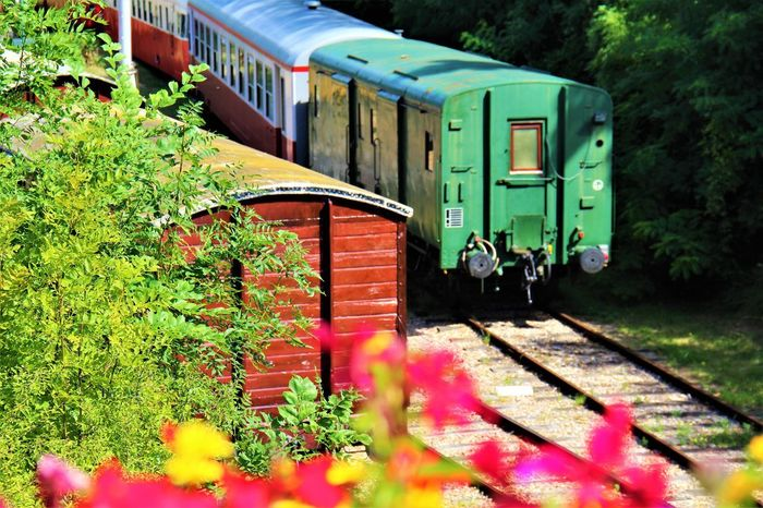Normandie Normandie, France Green Color Mode Of Transport No People Outdoors Rail Transportation Railroad Track Train - Vehicle Transportation