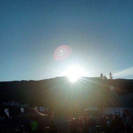 Ironman Volunteer Morning Sunrise Mountain Bluesky Redsplotch Ring Amazing Blinding Firstsight halo