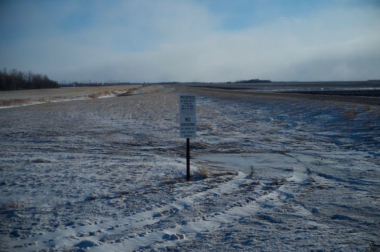 2-12-16 Arid Climate Cold Cold Temperature Fargo FootPrint Horizon Over Water North Dakota Outdoors Remote Sand Dune Tranquil Scene Tranquility Vacations Water Weather West Fargo Winter