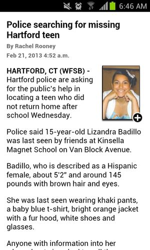 please if you see her contact hartford police or me