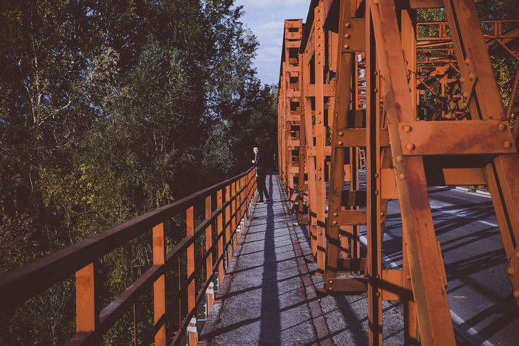 Architecture Bridge - Man Made Structure Built Structure Day Elevated Walkway Nature No People Outdoors Perspective Railing Red Sky Street Streetphotography