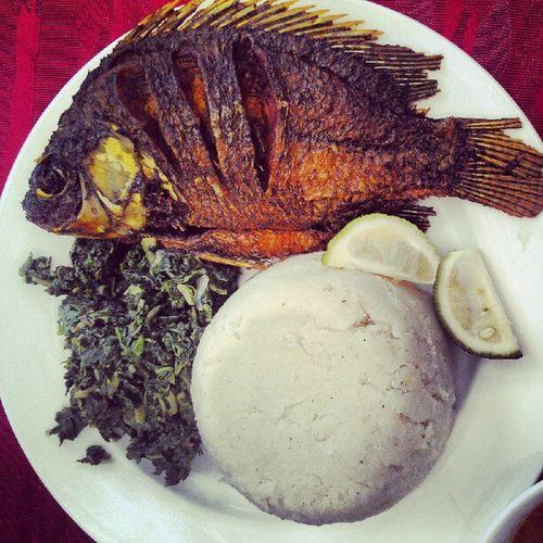 Lunch Fish Ugali @african_portraits AfricanFood samaki webstagram