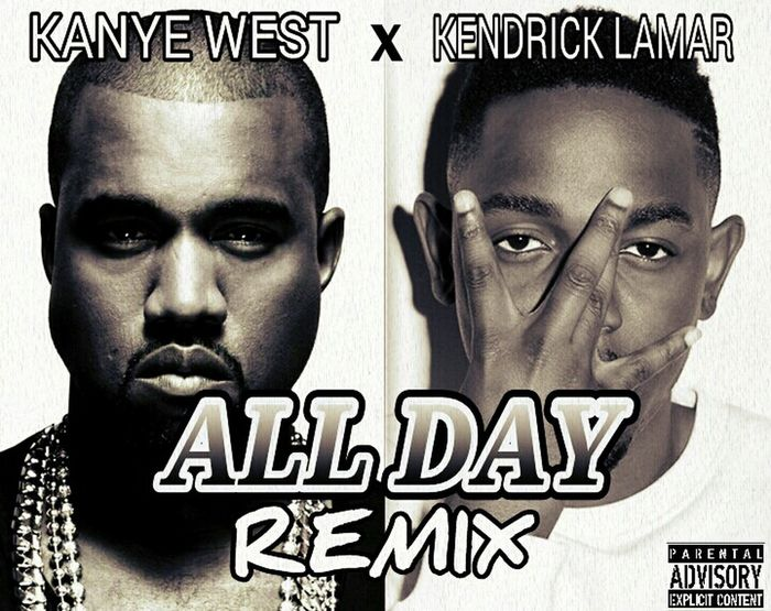 Finished editing another project music cover. AllDayRemix Kanyewest Kendricklamar Project MusicCover Project