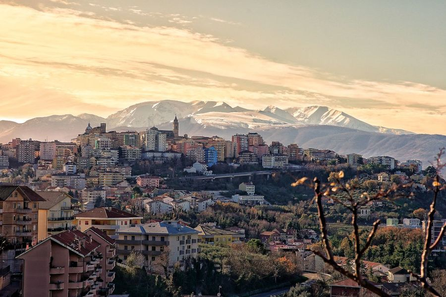 Chieti Majella Majella Mountain Maiella Landscape Snow Neve Snow ❄ Citta Panorama Panoramas Cold Temperature Large Group Of People Crowd