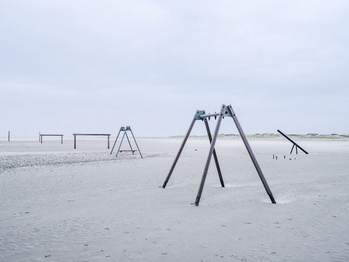 Abandoned Playground Against Sky