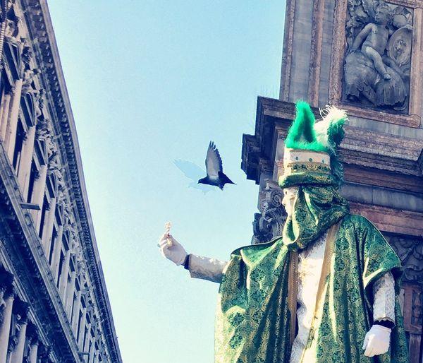 Venice #Italy Carnival Mask Feeding