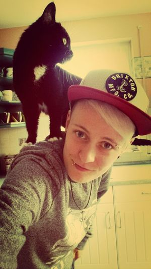 Cat On Top Selfie Crazy what the hell does my cat do on my back?!^^