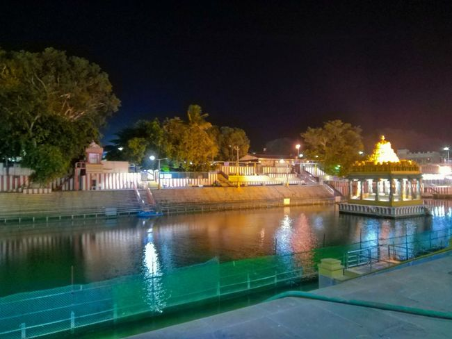 Night Water Illuminated Architecture Reflection Outdoors Arts Culture And Entertainment No People Travel Destinations History Temple Pond Tirumala Tirupati Devasthanams Phonephotography📱 Palace City Cityscape Building Exterior Politics And Government Tree Sky