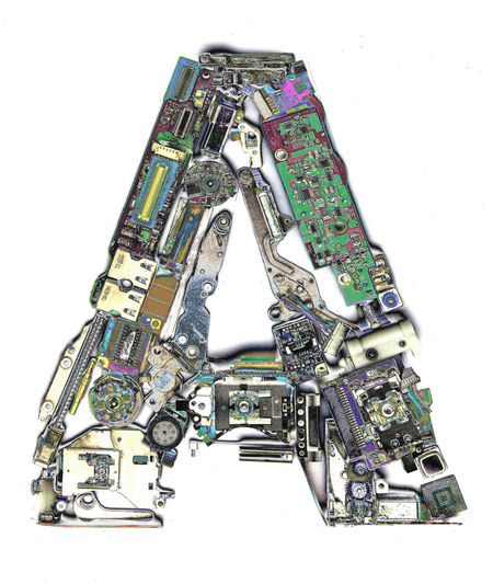 Electronic letter A Typography Big Letters Capital Letter Close-up Communication Cut Out Electronics  High Angle View Indoors  Industry Isolated White Background Letter A Machinery Metal Multi Colored No People Single Object Solarized Still Life Studio Shot Technology White Background