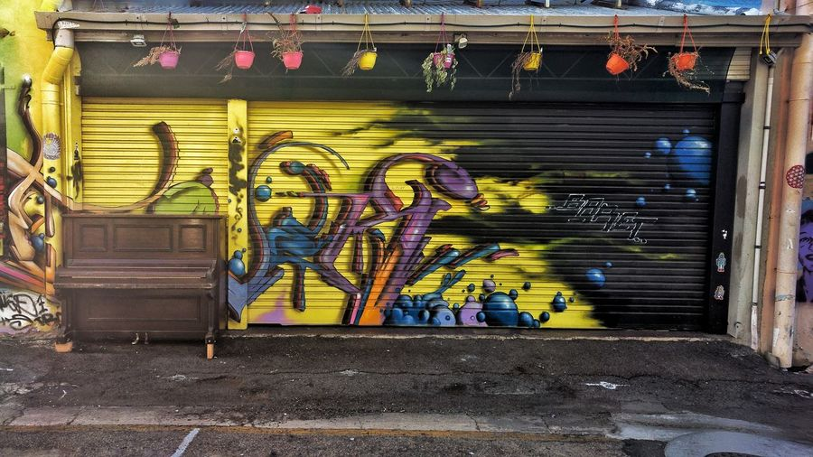 Roller Doors Street Art/Graffiti Alleyway Townsville, Queensland. Building Outdoors Multi Colored