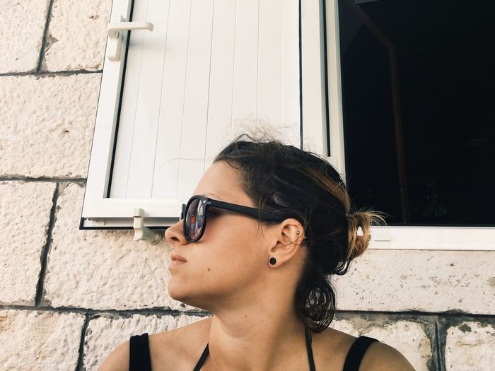 Sunglasses Real People Building Exterior One Person Built Structure Architecture Day Outdoors Headshot Lifestyles Leisure Activity Young Women Young Adult Sunlight Close-up Summer Vacation Croatia