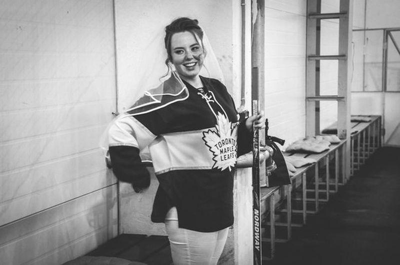 Bride Ice Hockey Wedding Hockey