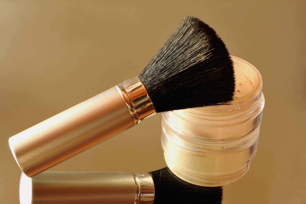 Close-Up Of Makeup Brushes