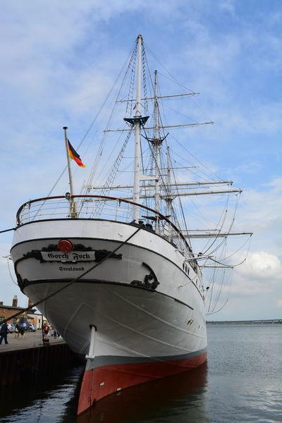 Flag Gorch Fock Nautical Vessel No People Sailing Ship Sea Stralsund  Water