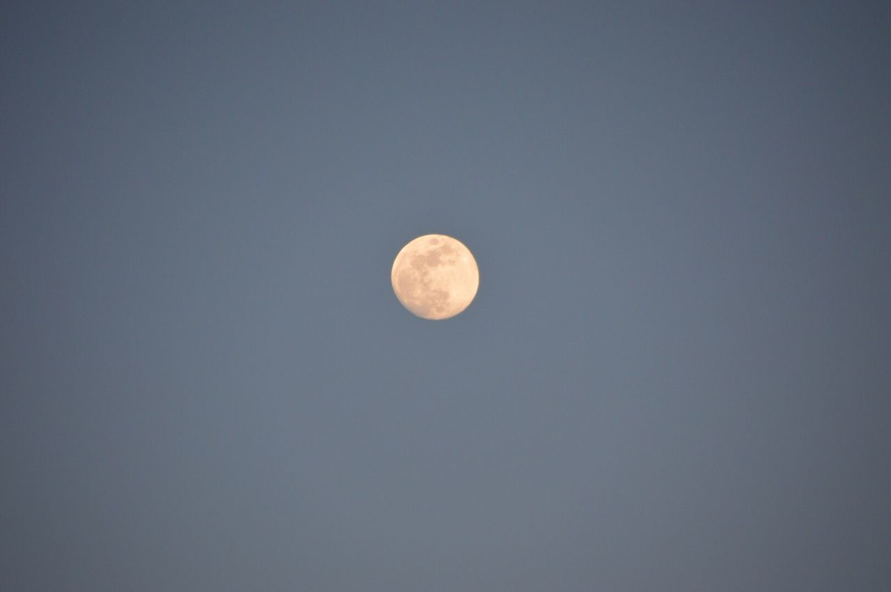 moon, astronomy, beauty in nature, planetary moon, nature, scenics, copy space, tranquility, moon surface, tranquil scene, circle, low angle view, night, clear sky, no people, sky only, space, half moon, outdoors, space exploration, sky