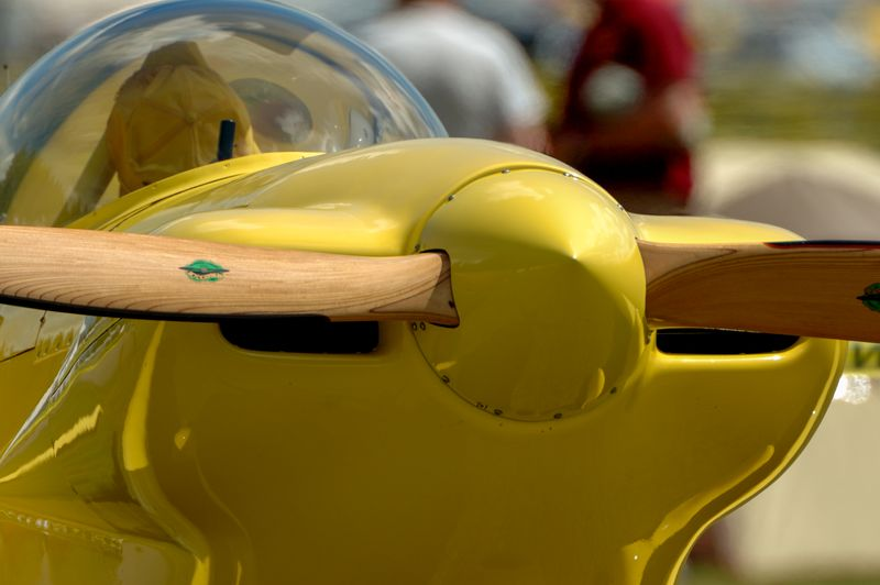 Close-Up Of Yellow Air Vehicle