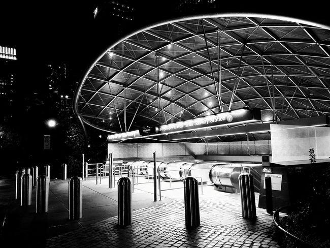 No People Architecture Night Outdoors City Modern Urban Subway Subway Station