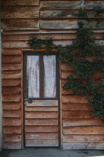 Architecture Window Built Structure Building Building Exterior No People Wood - Material Day House Wall - Building Feature Old Plant Outdoors Weathered Glass - Material Wall Closed Abandoned Entrance Door Window Frame